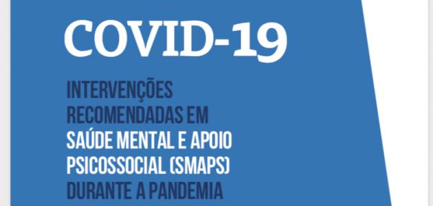 Capa da publicação Intervenções recomendadas em Saúde Mental e Apoio Psicossocial (SMAPS) durante a pandemia da Paho