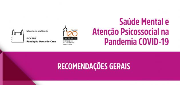 capa da publicação Saúde Mental e Atenção Psicossocial na Pandemia COVID-19 da Fiocruz