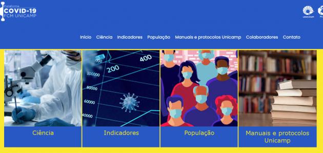 banner de entrada do site da Plataforma Covid-19