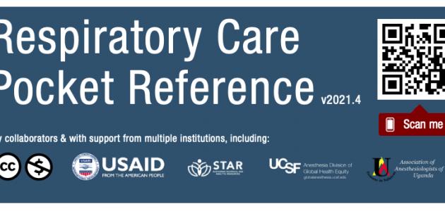 Capa do manual Referências rápidas para cuidados respiratórios