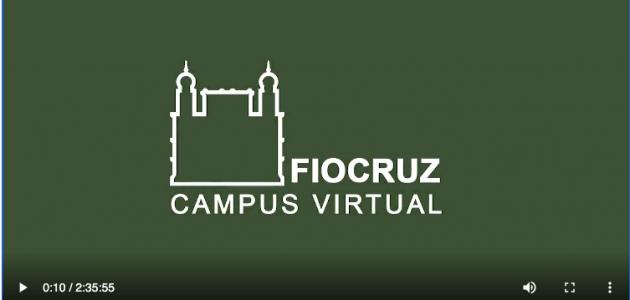 print vídeo com o logo da Fiocruz - Campus Virtual