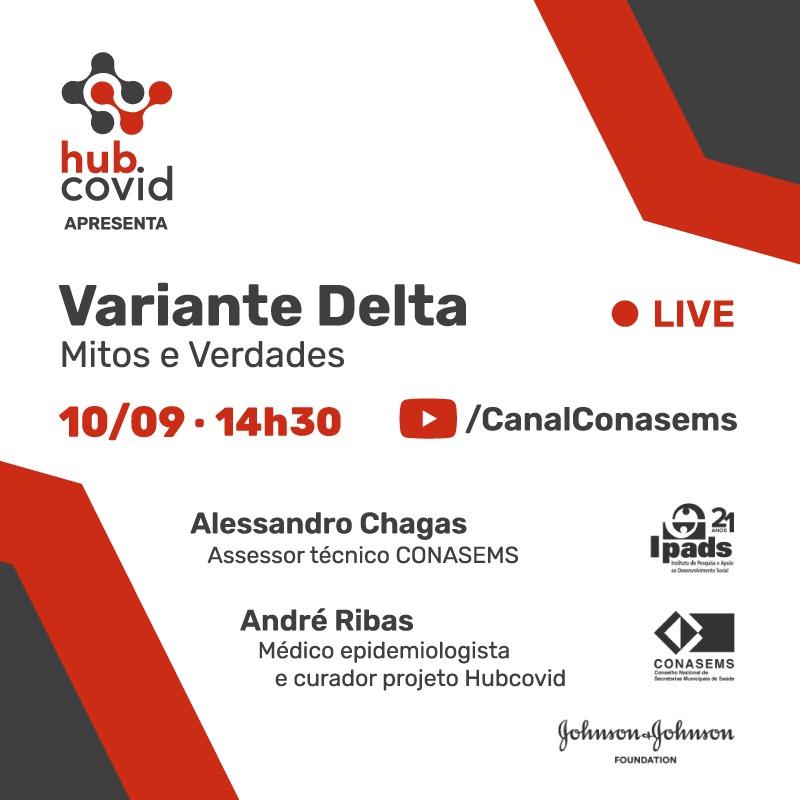 arte digital convite da live com as informações sobre o evento.